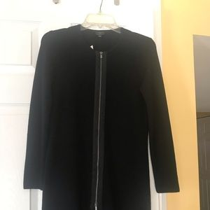 Talbots black Zipper long sleeve sweater dress